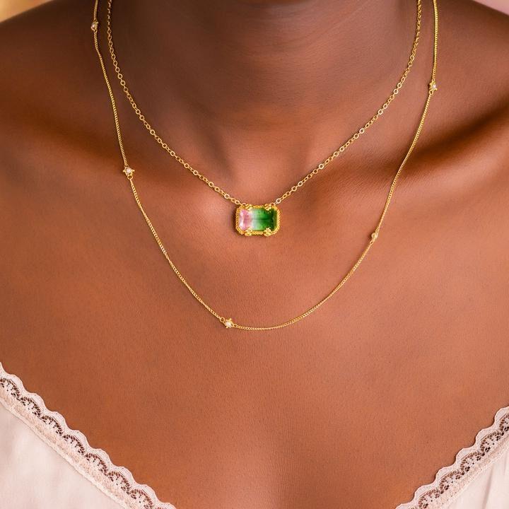 biżuteria z turmalinem, ciekawy przykład